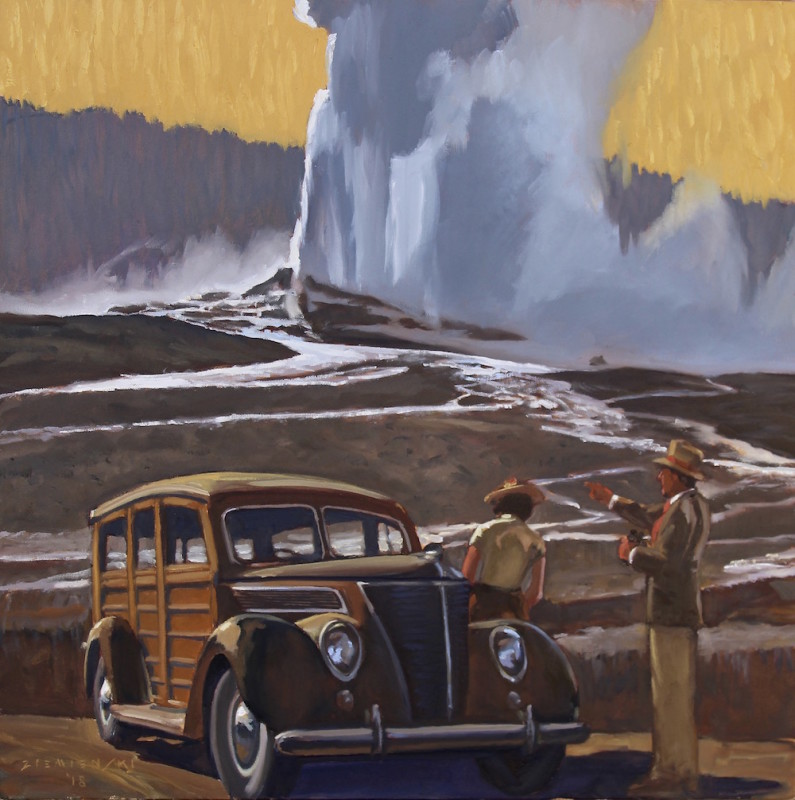Dennis Ziemienski, Yellowstone From the Station Wagon