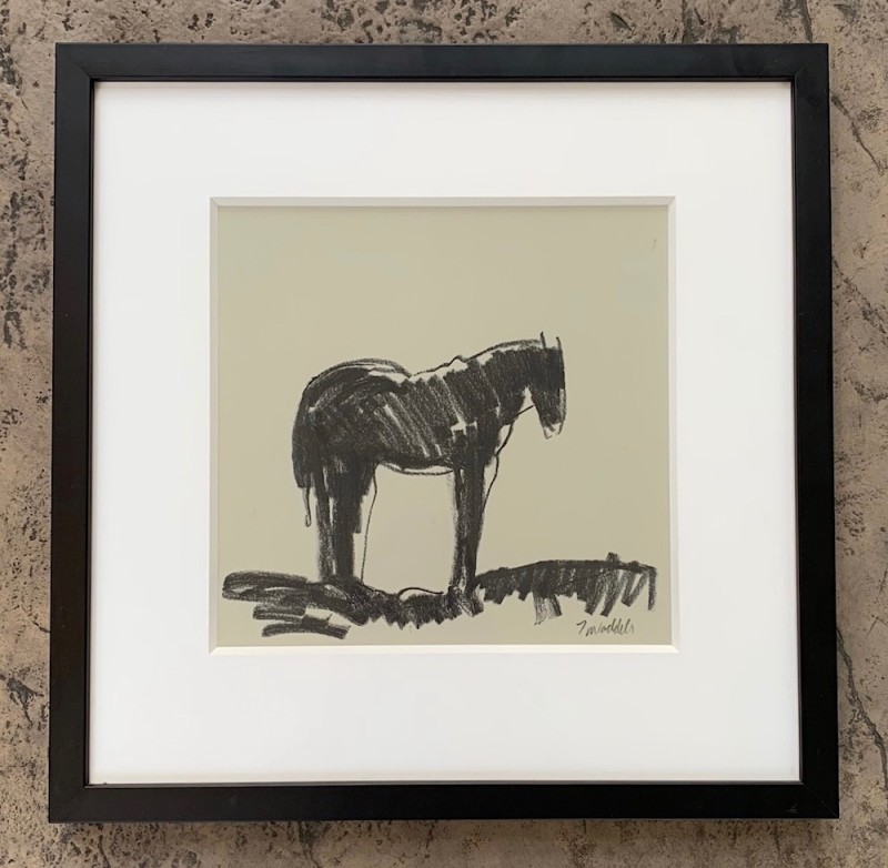 Works on Paper by Theodore Waddell, Camas Prairie Horses Dr. #7