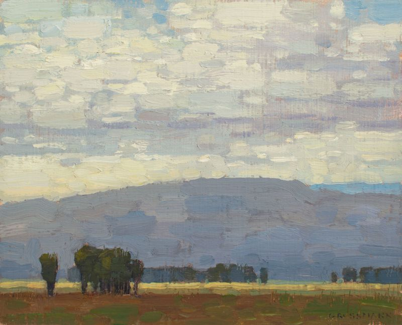 David Grossmann, Afternoon Clouds from Antelope Flats