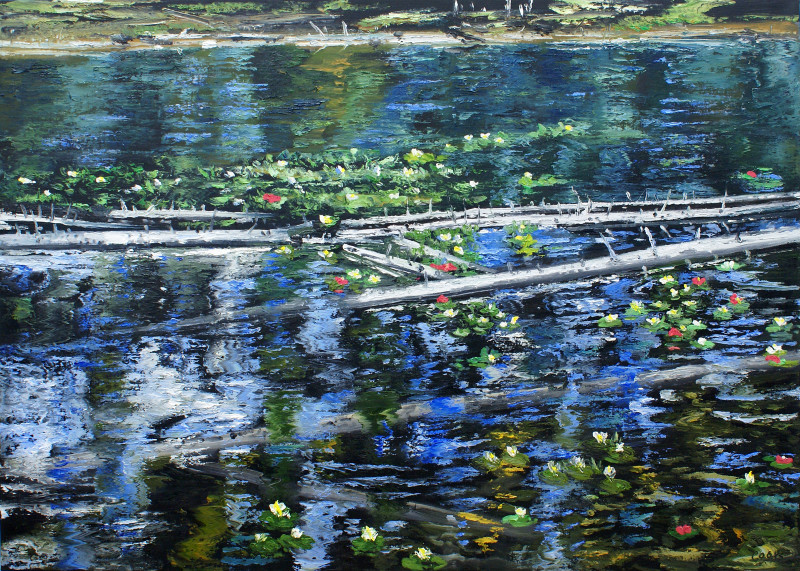 James Pringle Cook, String Lake - Lilies