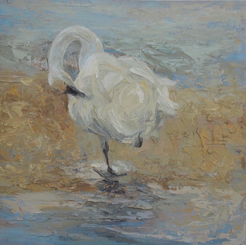 Mary Roberson, Preening Swan