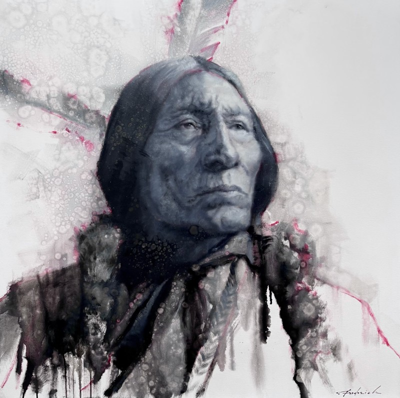 David Frederick Riley, Wolf Robe in Red