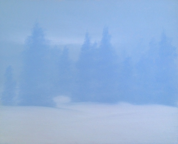 Dave Hall, Dawn in Blue and White