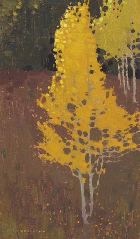 David Grossmann, Bright Trees and Brown Hillside