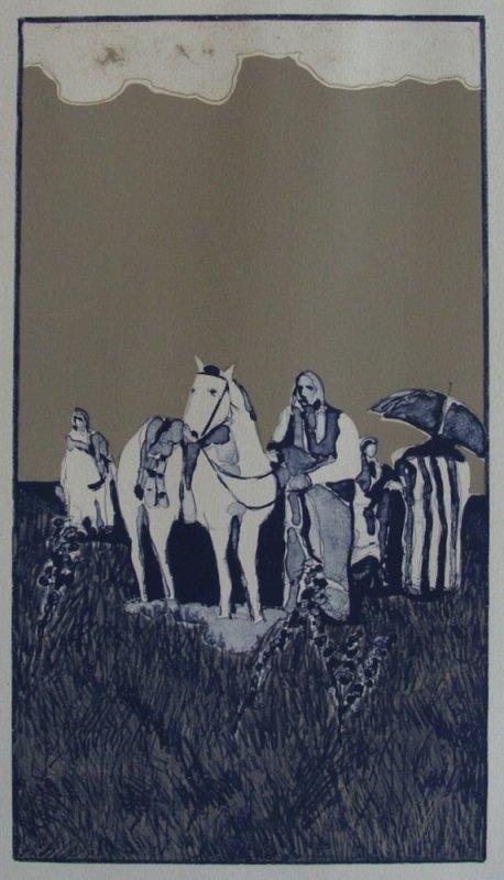 Fritz Scholder, Indian Landscape State I #48/50