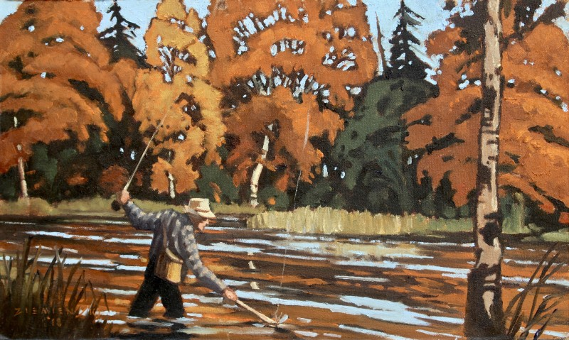 Dennis Ziemienski, Autumn Fly Fisherman