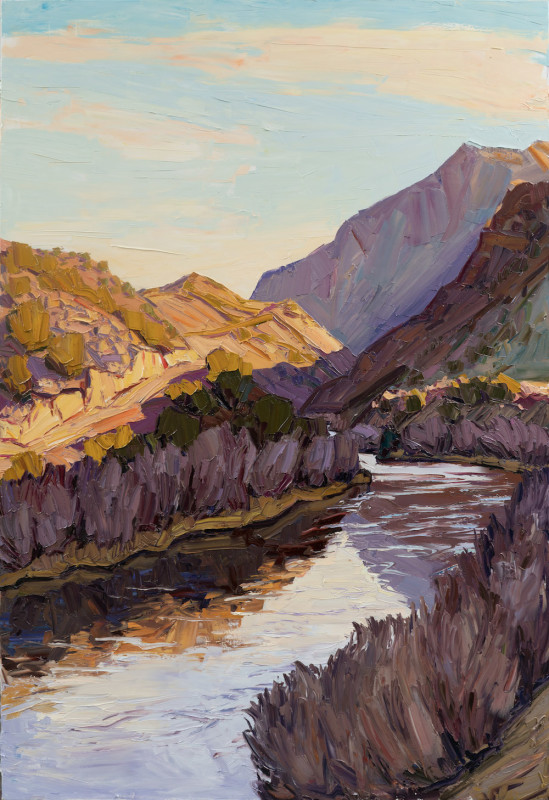 Jivan Lee, Sunrise Reflected- Rio Grande
