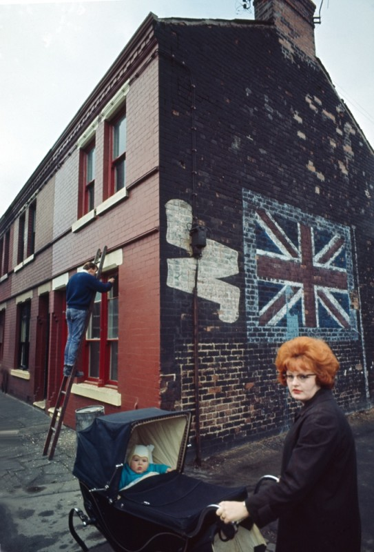RED HEAD LADY AND PRAM, THE NORTH, C 1960'S