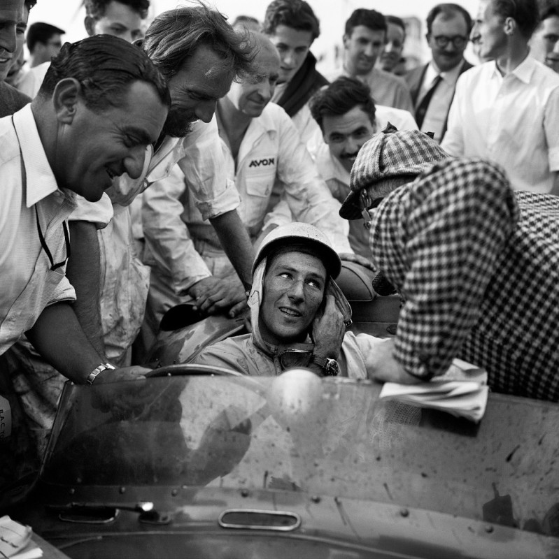 STIRLING MOSS (ASTON MARTIN), GOODWOOD, 1957