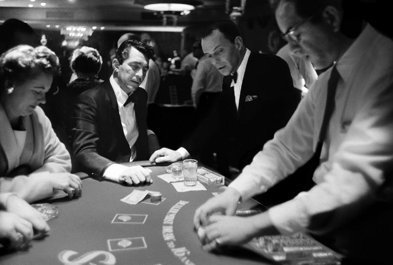DEAN MARTIN AND FRANK SINATRA, SANDS HOTEL, LAS VEGAS, 1960