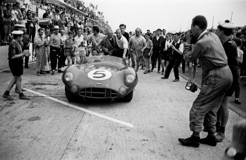 ASTON MARTIN VICTORY, SHELBY, MOSS AND DAVID BROWN, LE MANS, 1959