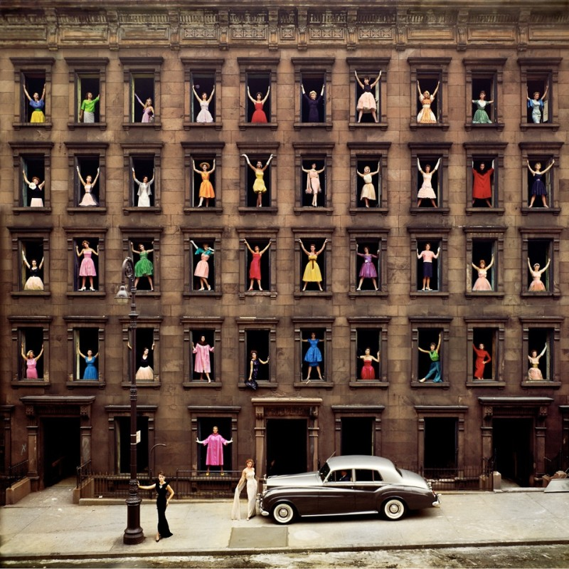 GIRLS IN WINDOWS, NEW YORK, 1960