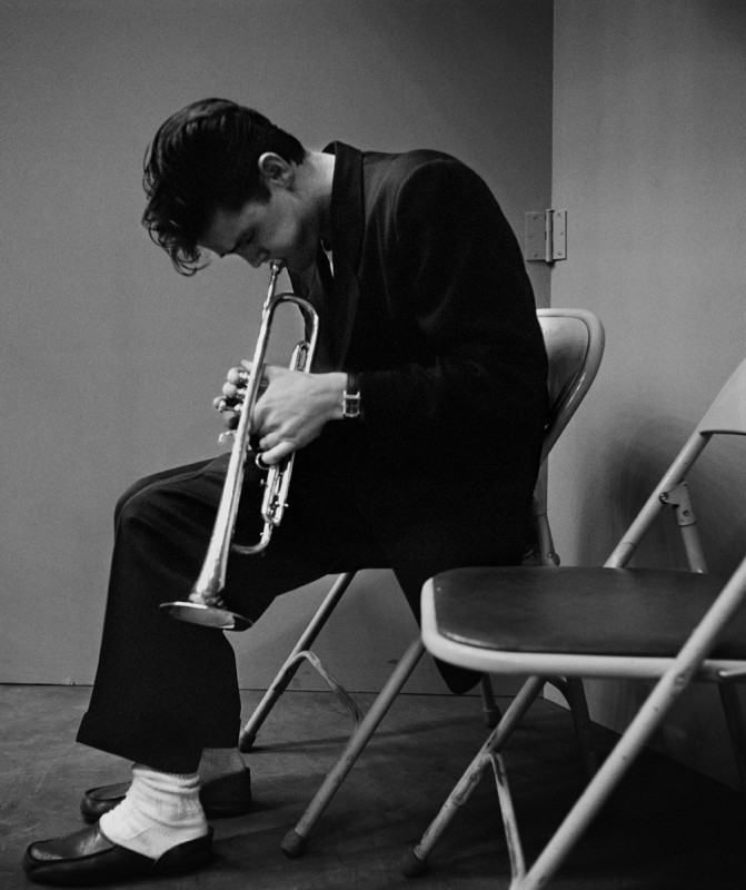 CHET BAKER AFTER A RECORDING SESSON WITH GERRY MULLIGAN, LOS ANGELES, 1953
