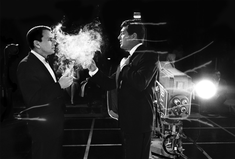 FRANK SINATRA AND DEAN MARTIN ON SET OF THE JUDY GARLAND TV SHOW, 1962