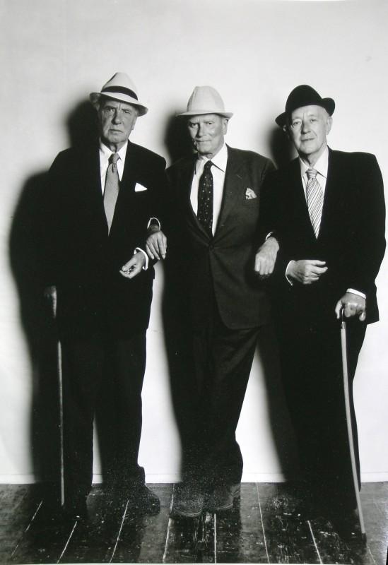 SIR RALPH RICHARDSON, LORD OLIVIER & ALEC GUINNESS, 1980