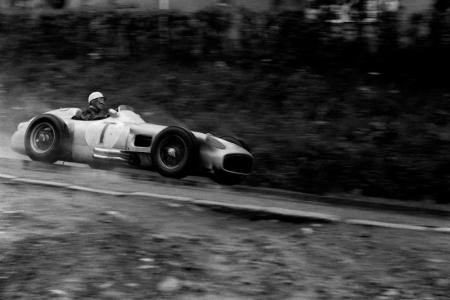 STIRLING MOSS (MERCEDES), SPA/FRANCORCHAMPS I, 1955