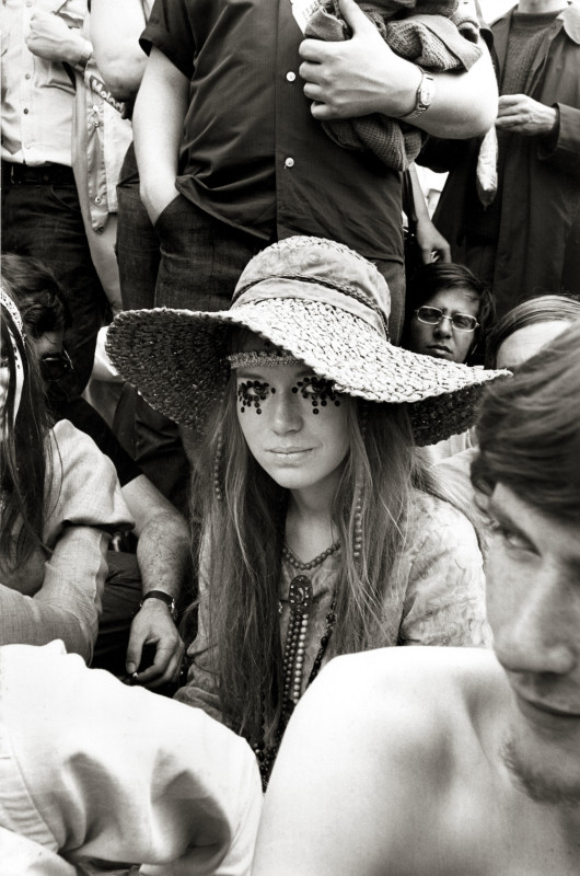PART OF THE SCENE, GIRL AT ROLLING STONES CONCERT, 1969