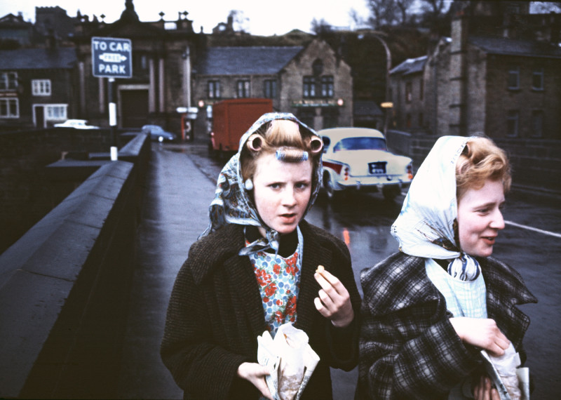 MILL GIRLS, ELLAND, YORKSHIRE, 1965
