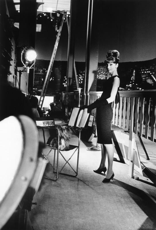AUDREY HEPBURN PHOTOGRAPHED FOR FRENCH VOGUE ON THE SET OF 'PARIS WHEN IT SIZZLES', PARIS, 1962