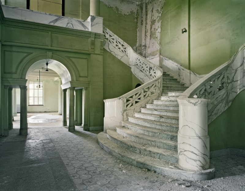 Mead Building Stair, Yankton State Hospital, Yankton SD, From The Asylum Series, 2008