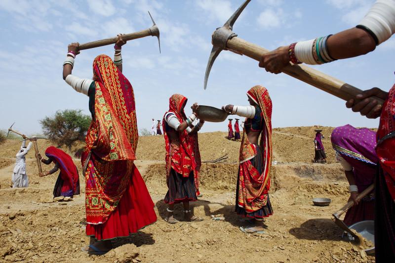 RABARI WOMEN AT WORK, INDIA, 2009