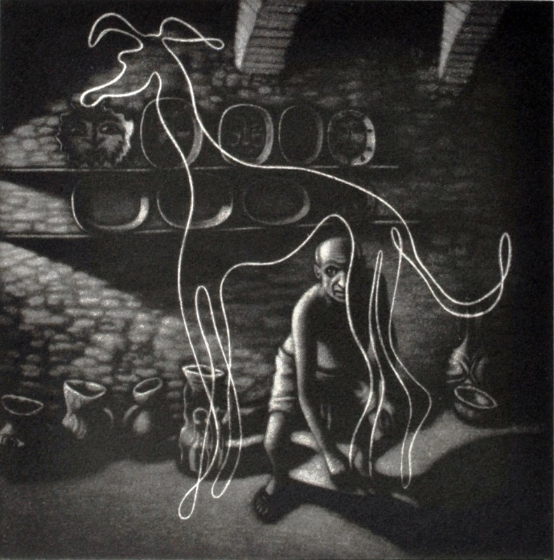 Mychael Barratt PPRE Hon RWS, Picasso's dog