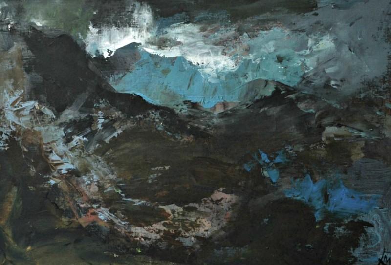 Colin Merrin RWS, Storm Over Gran Sasso 1