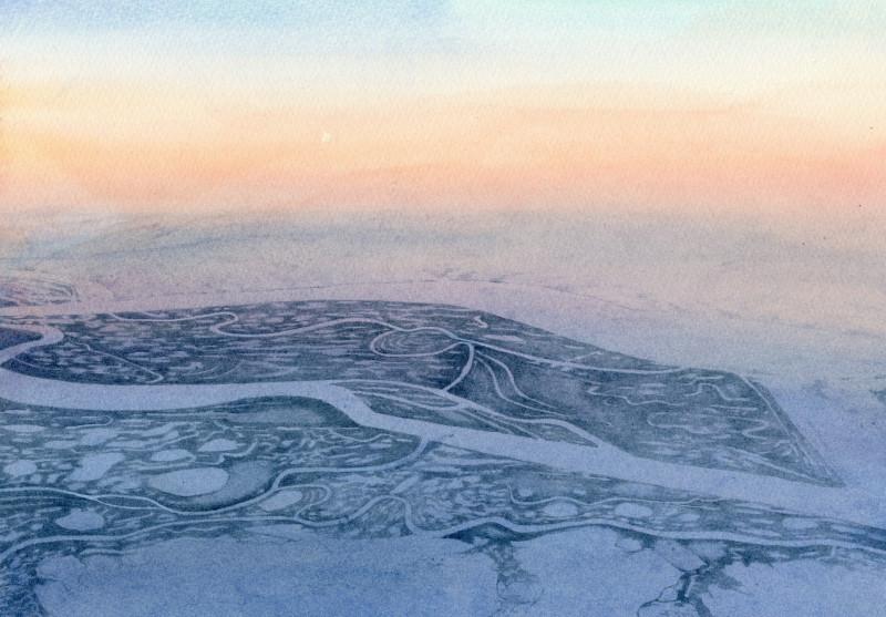 Liz Butler RWS, Over Siberia 3