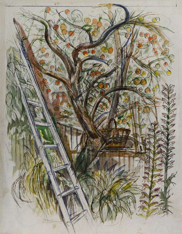 Richard Bawden RWS RE, Apple Picking