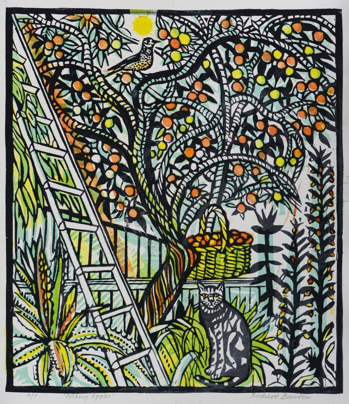 Richard Bawden RWS RE, Picking Apples