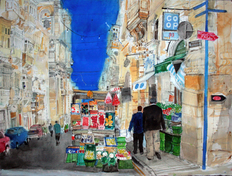 Peter Quinn RWS, Valetta Fruit and Vegetable