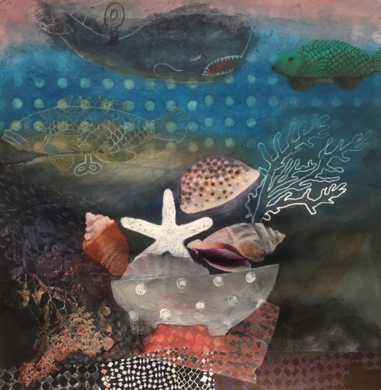Gertie Young RWS, Tin Fish with Seashells