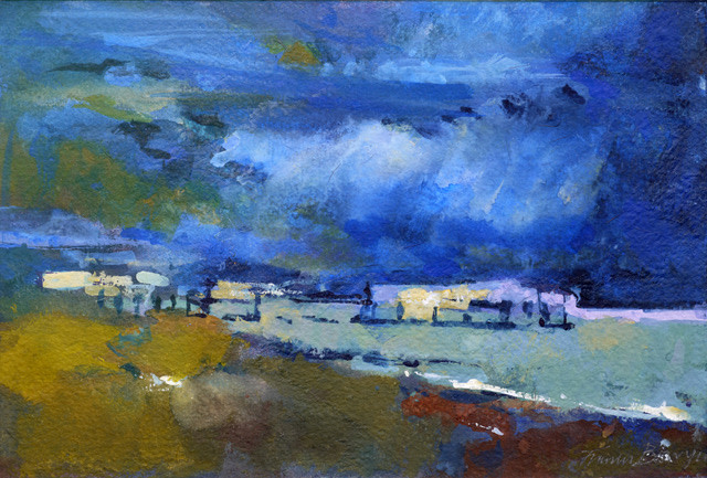 Francis Bowyer PPRWS Hon. RE, Clouds Over Southwold Pier