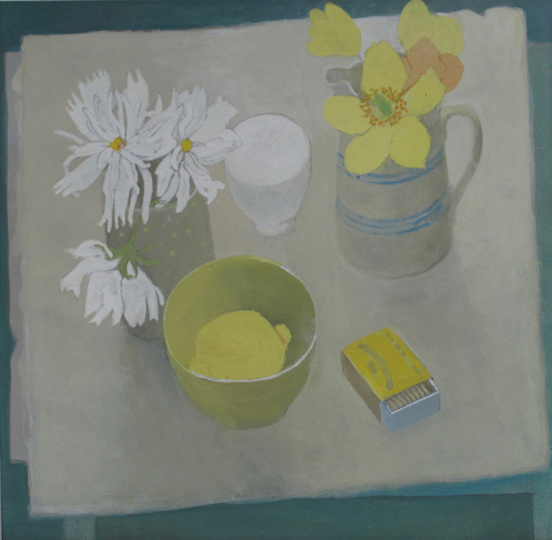 Wendy Jacob RWS, Cosmos and Welsh Poppies