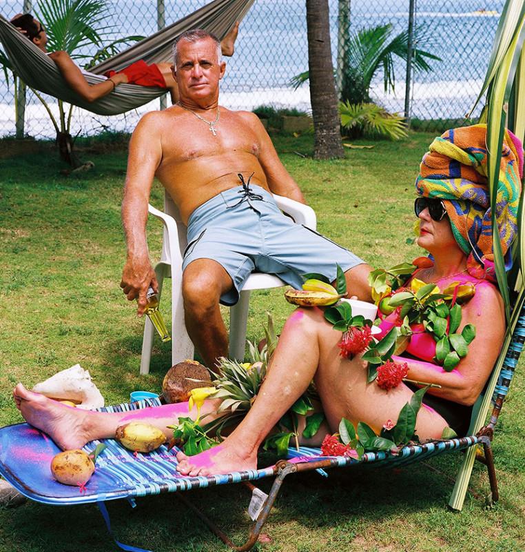 Carlos Betancourt, Rincon Flamboyant Series, Family Portrait Mami, Papi and Alberto, 2005, 2005