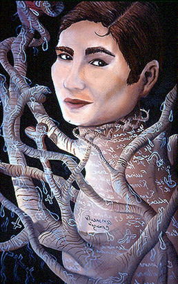 Carlos Betancourt, Portrait of Sandra Cisneros, 1995, 1995