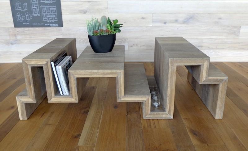 Carlos Betancourt, THE SKYLINE TABLE Siberian Floors, 2013