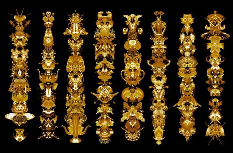 Carlos Betancourt, Amulet for Light I, (gold) 2012, 2012