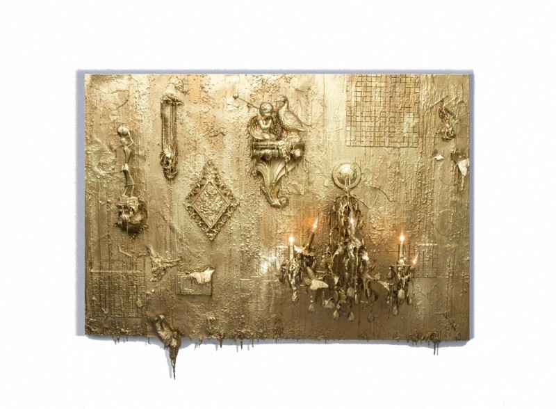Carlos Betancourt, Wall Assemblage of Things Past I, for Alberto, 2012, 2012