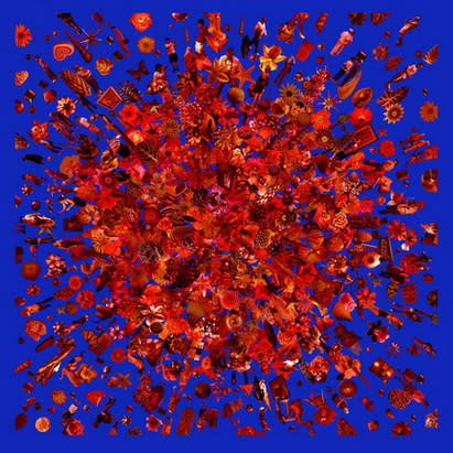 Carlos Betancourt, Re-collection VIII (red), 2009, 2009