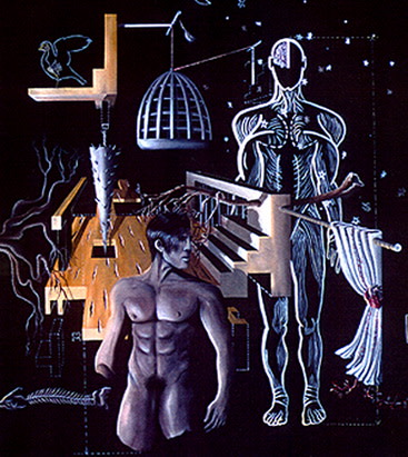Carlos Betancourt, En la Arena Sabrosa, After Carl Sagan, 1995, 1995