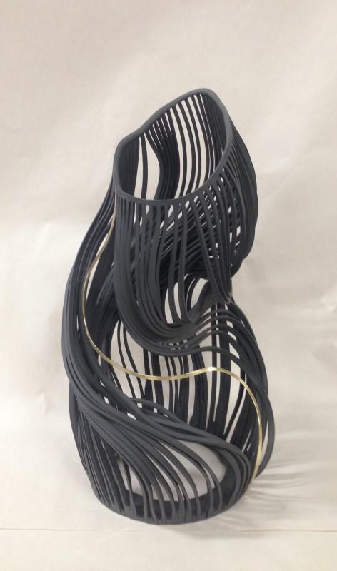 Lauren Nauman, Lines, 34 Black with brass, 2018