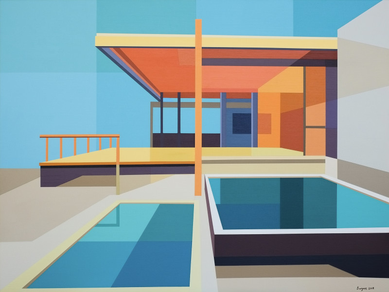 Andy Burgess, Re-Imagined Neutra III - Chuey House, 2019