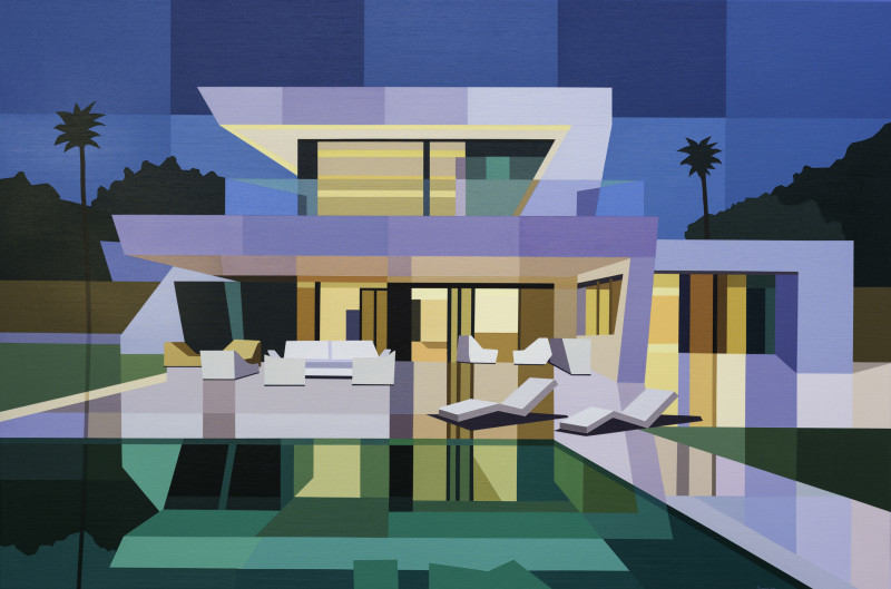 Andy Burgess, Sotogrande House at Dusk, 2019