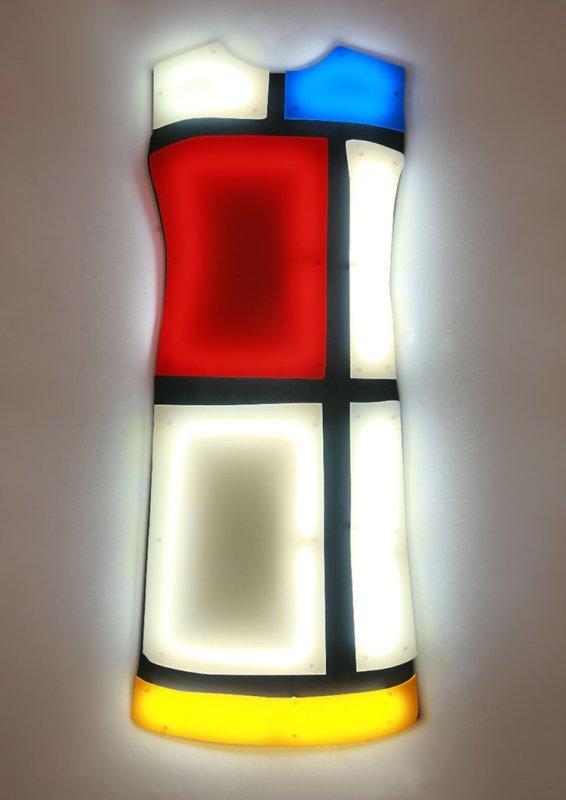 Nicolas Saint Grégoire, Mondrian Dress 1 Ivory, 2012