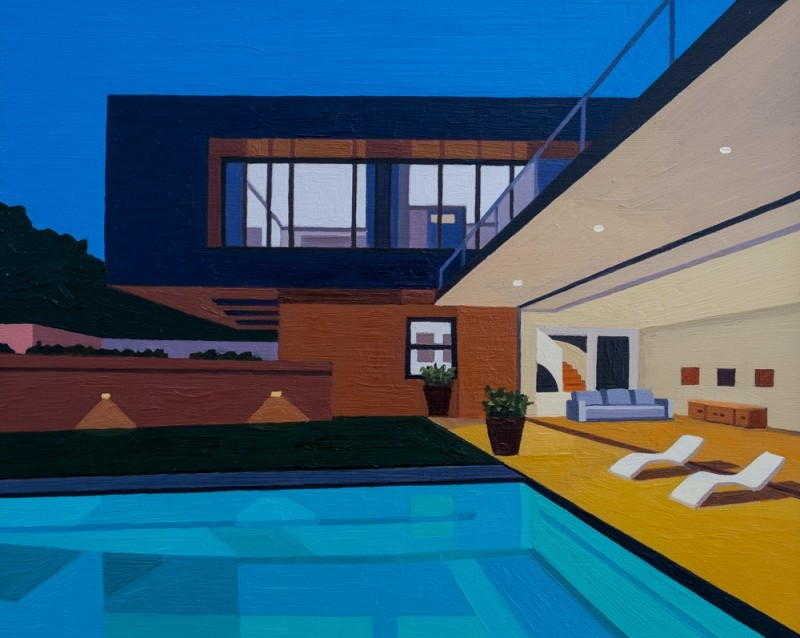 Andy Burgess, Pool House at Night, 2016