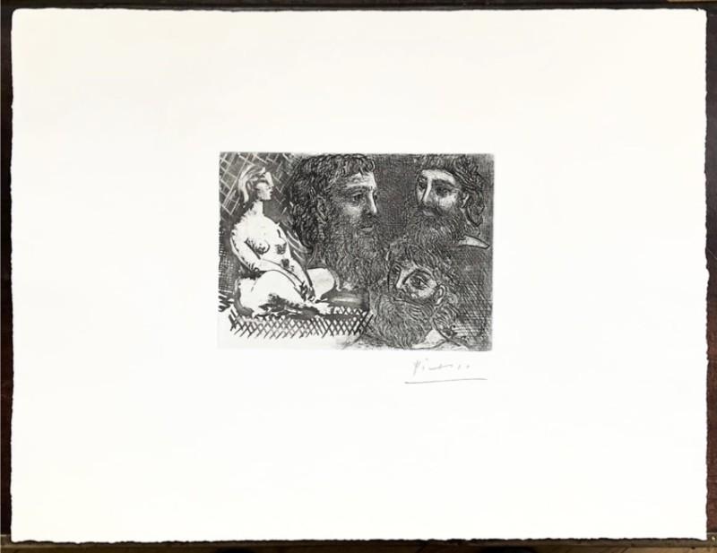 Pablo Picasso, Marie-Therese en idole et trois Grecs Barbus, 1934