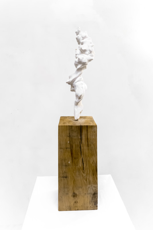 Guy Haddon Grant, Small Totem White no. 1, 2017-18