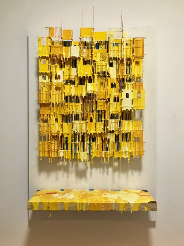 Russell West, Little Boxes Yellow, 2017