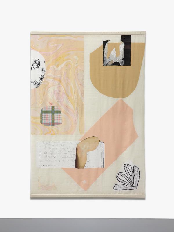 ARNA ÓTTARSDÓTTIR, Collage (Marble Knee Flower), 2019